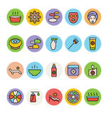 SPA Colored Vector Icons 4 Royalty Free Stock Images