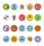 SPA Colored Vector Icons 3 Royalty Free Stock Photos