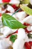 SPA composition. With incense stick, leaf, pot pourri and white stones Royalty Free Stock Images