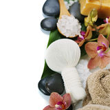 Spa composition with beautiful orchid Stock Photo