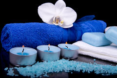 Spa composition in blue Stock Image