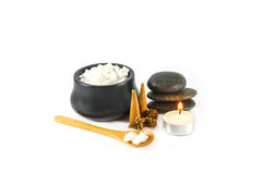 Spa composition and Sea salt. Royalty Free Stock Image