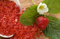 Spa composition with strawberry Stock Image