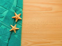 Spa composition with towel and starfish. Stock Image