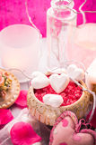 Spa composition Valentines Day heart love body health Stock Photo