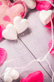 Spa composition Valentines Day heart love body health Stock Images