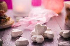 Spa composition Valentines Day heart love body health Stock Image