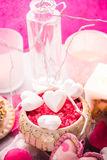Spa composition Valentines Day heart love body health Stock Photos