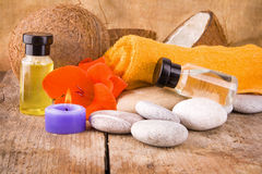 Spa concept and essential oils Stock Photography