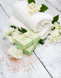 Spa concept with jasmine flowers Stock Photography