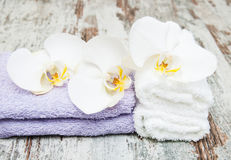 Spa concept  with  orchids Stock Images