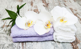 Spa concept  with  orchids Stock Image