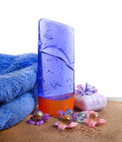 Spa concept. Organic spa products Stock Photos