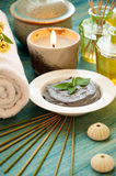 Spa concept with organic scrub Royalty Free Stock Images