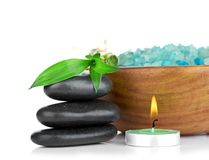 Spa concept over white with sample text. See my other works in portfolio Royalty Free Stock Images