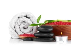 Spa concept over white with sample text. See my other works in portfolio Royalty Free Stock Photos