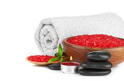Spa concept over white with sample text. See my other works in portfolio Stock Photography