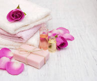 Spa concept with roses Royalty Free Stock Image