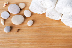 Spa concept with stacked of stone Stock Photography