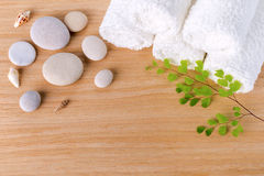 Spa concept with stacked of towel Stock Photography