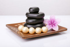 Spa concept. With zen basalt stones Royalty Free Stock Photo