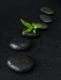 Spa-concept with zen stones and bamboo Royalty Free Stock Image