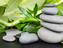 Spa-concept with zen stones and bamboo Royalty Free Stock Photo