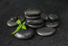 Spa-concept with zen stones and bamboo Stock Photos