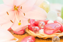 Free Spa Concept Zen Stones Colored Lily Stock Photography - 43164552