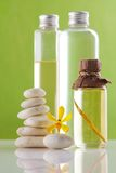 Spa Concepts, oil bottles Royalty Free Stock Image