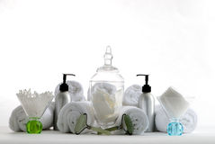 Spa containers and products Stock Photography