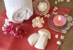 Spa cosmetic products concept, spa background royalty free stock photos