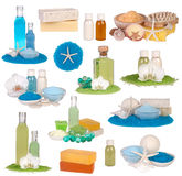 Spa cosmetics collection Royalty Free Stock Images