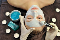 SPA. Cosmetics mask in spa salon Stock Images