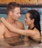 Spa couple in love Stock Photos