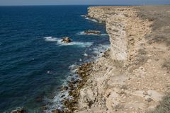SPA crimean Γύρος θάλασσας επιφύλαξη στοκ εικόνα