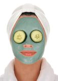 Spa cucumber mud mask Stock Image