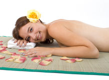 Spa Day. Beautiful young woman at the spa Royalty Free Stock Images