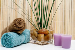 Spa Day. Studio shot of various spa items Royalty Free Stock Images