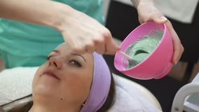 Spa Day Of Beautiful Woman stock video footage