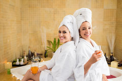 Spa day with best friend Stock Photos
