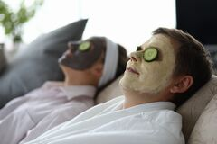 Free Spa Day For Loving Spouse Stock Photos - 169934363