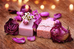 Spa decoration with aroma soap Stock Photography