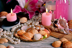 Spa decoration  for relaxation Royalty Free Stock Photo