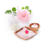 Spa decoration set with pink rose Stock Photography