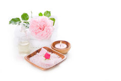 Spa decoration set with pink rose Stock Image