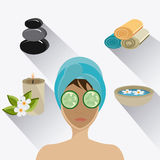 SPA design. SPA design over white background,  illustration Royalty Free Stock Photo