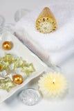 Spa detail. Spa, wellness or bath accessories Stock Photos