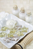 Spa detail. Spa, wellness or bath accessories Royalty Free Stock Photos