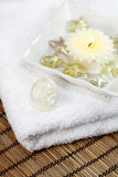 Spa detail. Spa, wellness or bath accessories Stock Photography
